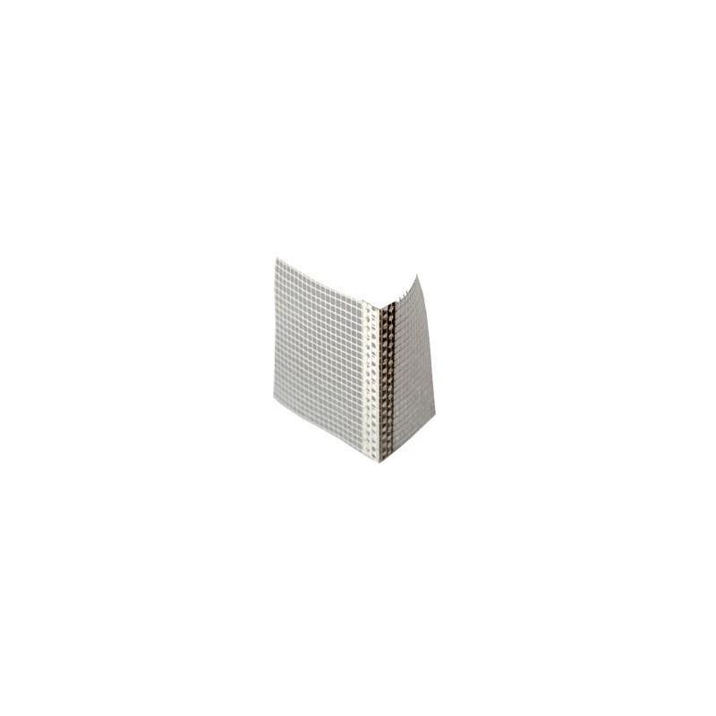 BAGUETTE ANGLE PVC ENTOILÉE - 2,5ML - Lot de 10 Pièces