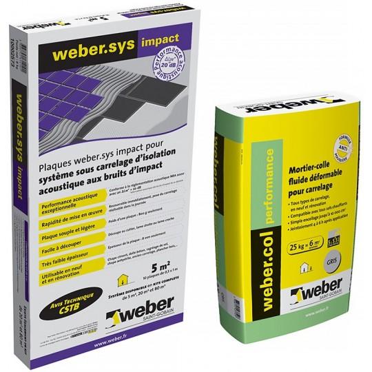 KIT WEBER.SYS IMPACT 20M² + WEBERCOL PERFORMANCE