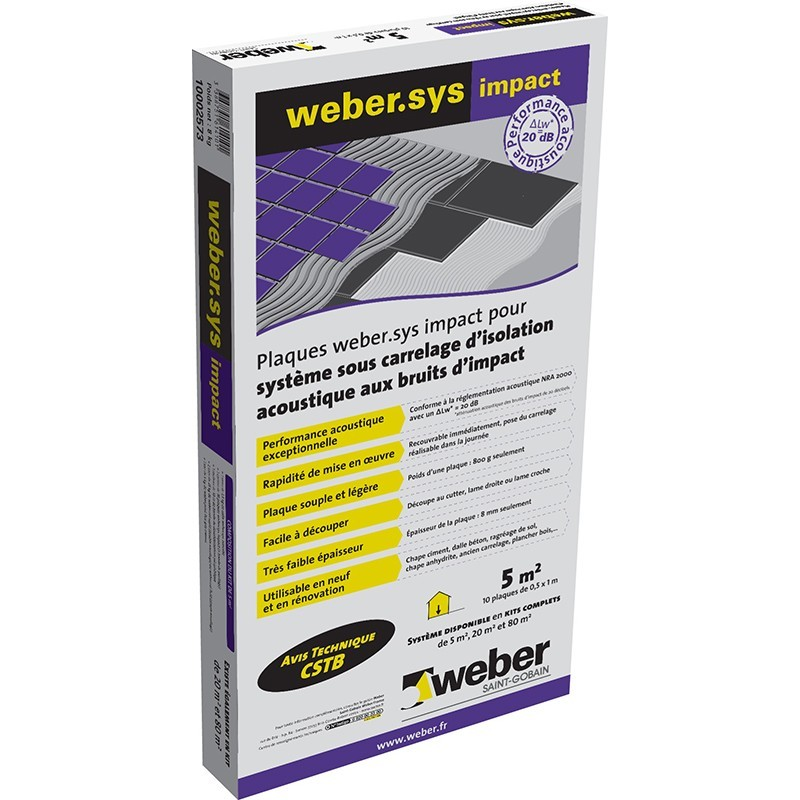 PLAQUES WEBER.SYS IMPACT 5M²
