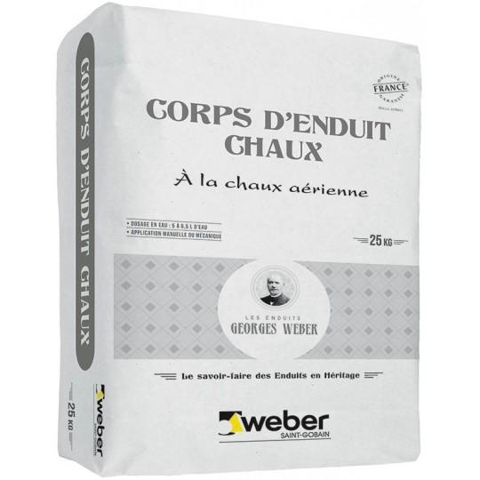 WEBER CORPS D'ENDUIT CHAUX 25KG (WEBER.MEP PLUS)