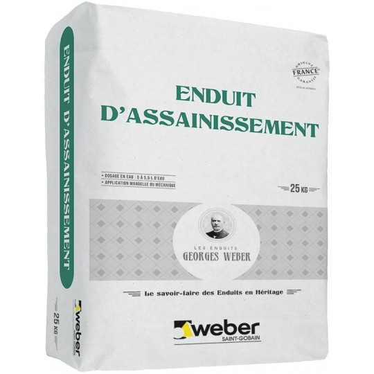 WEBER ENDUIT D'ASSAINISSEMENT 25KG (WEBER.MEP SP)