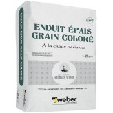 WEBER ENDUIT ÉPAIS GRAIN COLORÉ 25KG (WEBER.LITE GRAINS COLORÉS)