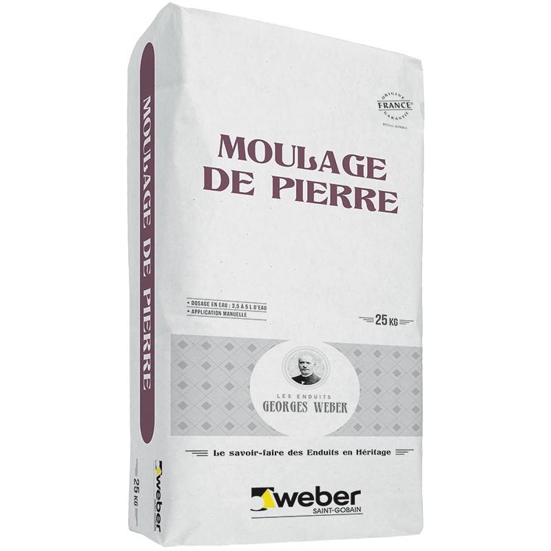 WEBER MOULAGE DE PIERRE - BLANC CASSÉ 001 - 25KG (WEBER.CIT MOULAGE)