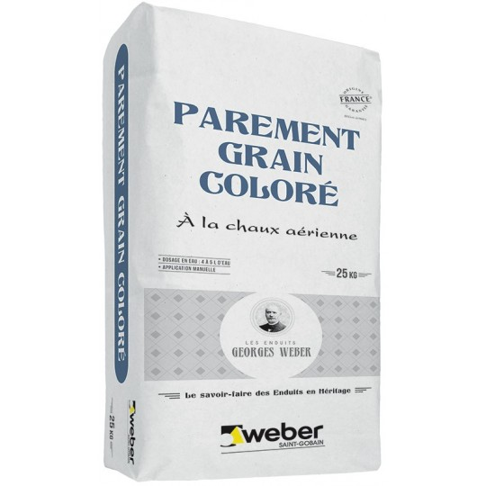 WEBER PAREMENT GRAIN COLORÉ 25KG