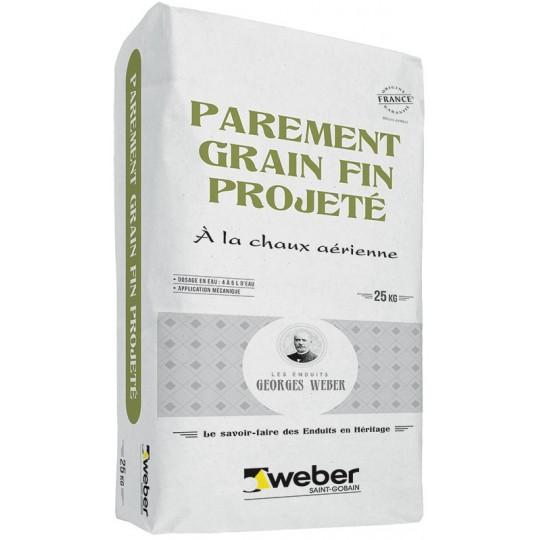 WEBER PAREMENT GRAIN FIN PROJETÉ 25KG (WEBER.CAL PF)