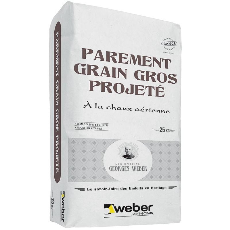 WEBER PAREMENT GRAIN GROS PROJETÉ 25KG (WEBER.CAL PG)