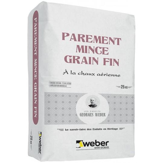 WEBER PAREMENT MINCE GRAIN FIN 25KG (WEBER.UNICOR ST)