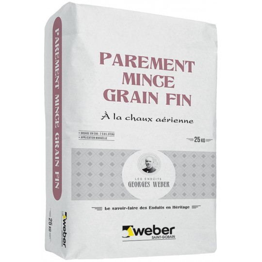 WEBER PAREMENT MINCE GRAIN FIN 25KG (WEBER.UNICOR ST)