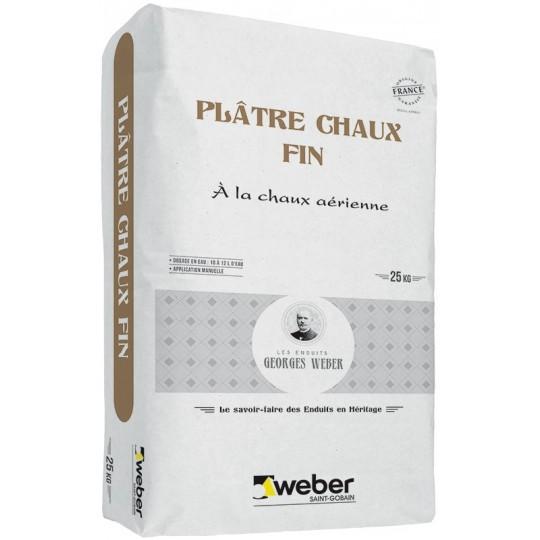 WEBER PLÂTRE CHAUX FIN 25 KG (WEBER MPC F)