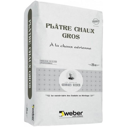 WEBER PLÂTRE CHAUX GROS 25 KG (WEBER MPC G)