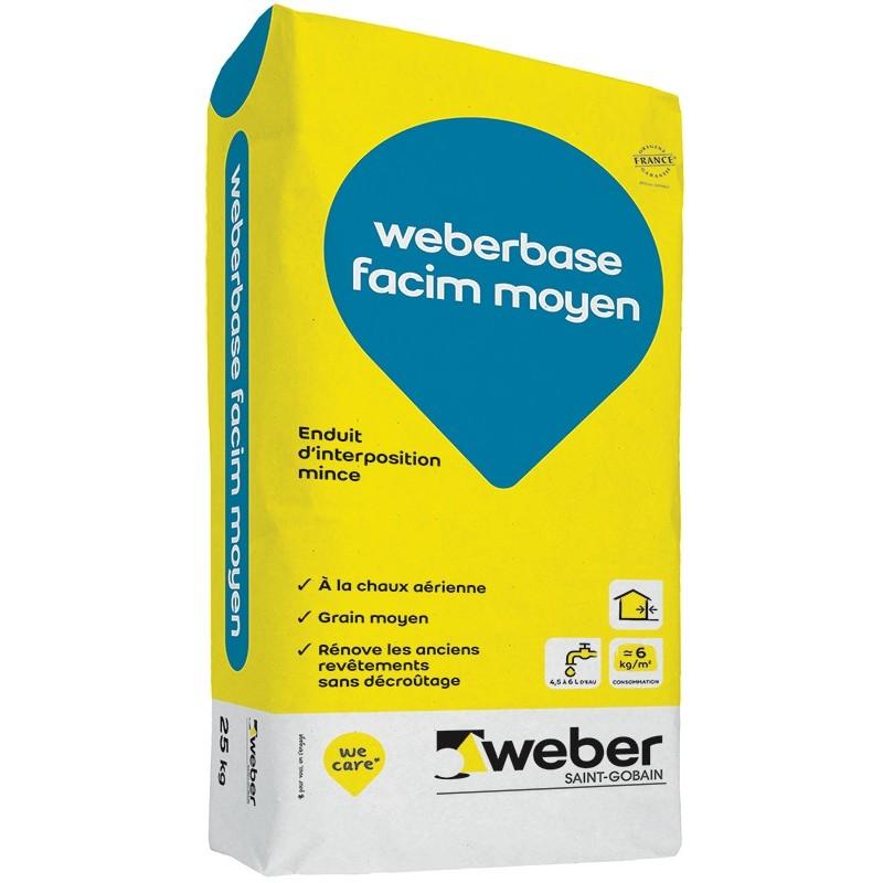 WEBERBASE FACIM MOYEN 25KG (WEBER.FACIM SH)