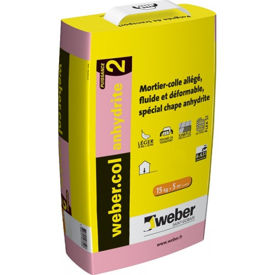 WEBERCOL ANHYDRITE² - GRIS - 15KG (WEBER.COL ANHYDRITE²)