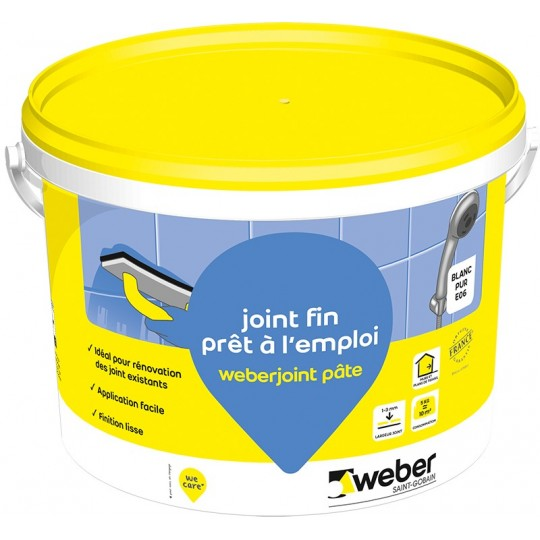 WEBERJOINT PATE - BLANC PUR E06 - 5KG (WEBER.JOINT PATE)