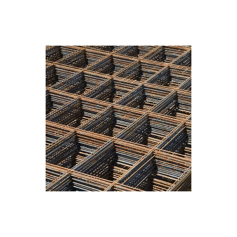 Treillis soudé panneau ST 50C - 6 x 2,40 m - maille 10 x 10 cm - Ø fil 8 mm