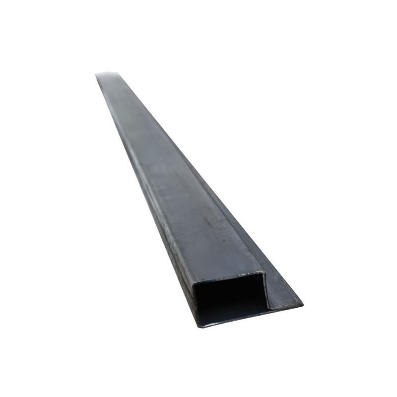 Tube à aile en forme de L - Dimension 40 x 27 mm - Ep. 2 mm - Aile 20