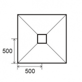 Sol Panodur carré - siphon de sol centré sortie horizontale