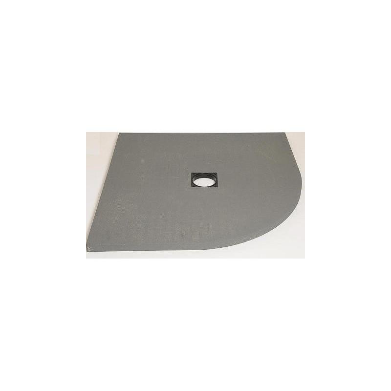 Sol Panodur 1/4 rond - siphon de sol centré sortie verticale