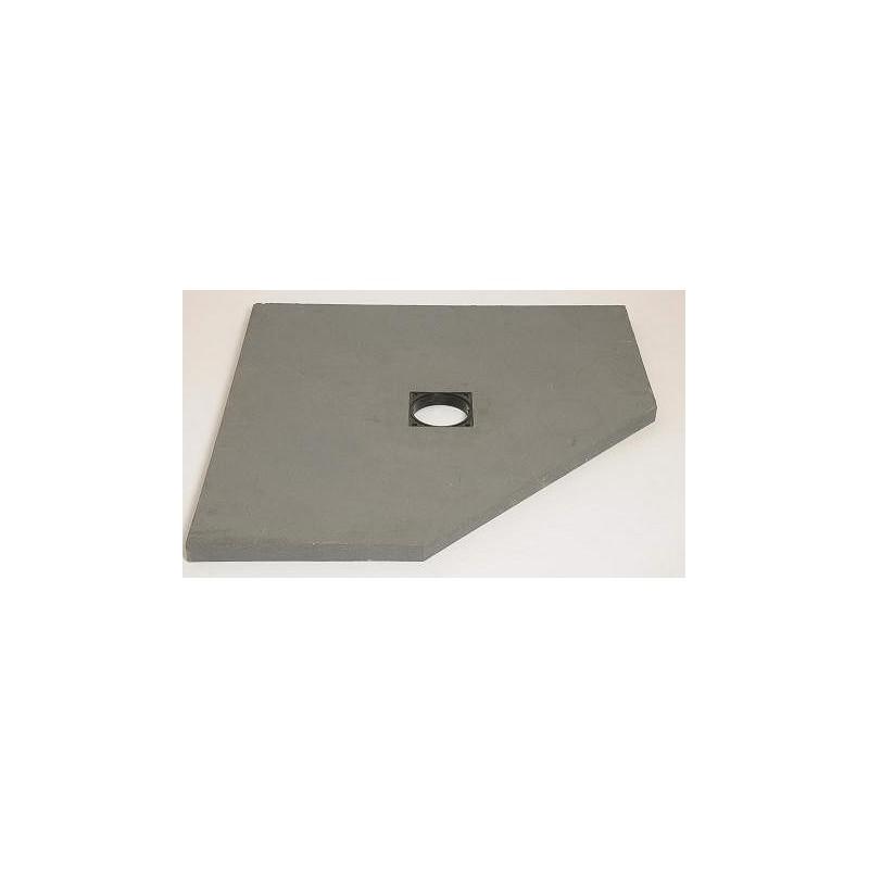 Sol Panodur pan coupé - siphon de sol centré sortie horizontale