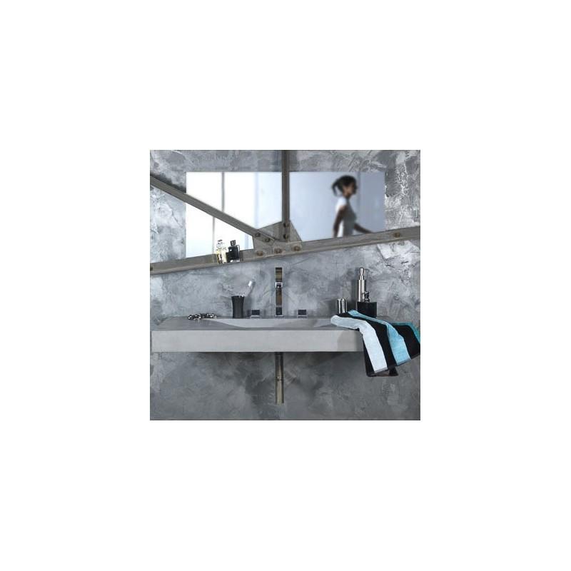 Plan Vasque Aéro avec 2 équerres de fixation et un vidage en laiton chromé