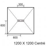 Sol Panodur Linéal mini centré transversal - siphon de sol sortie horizontale