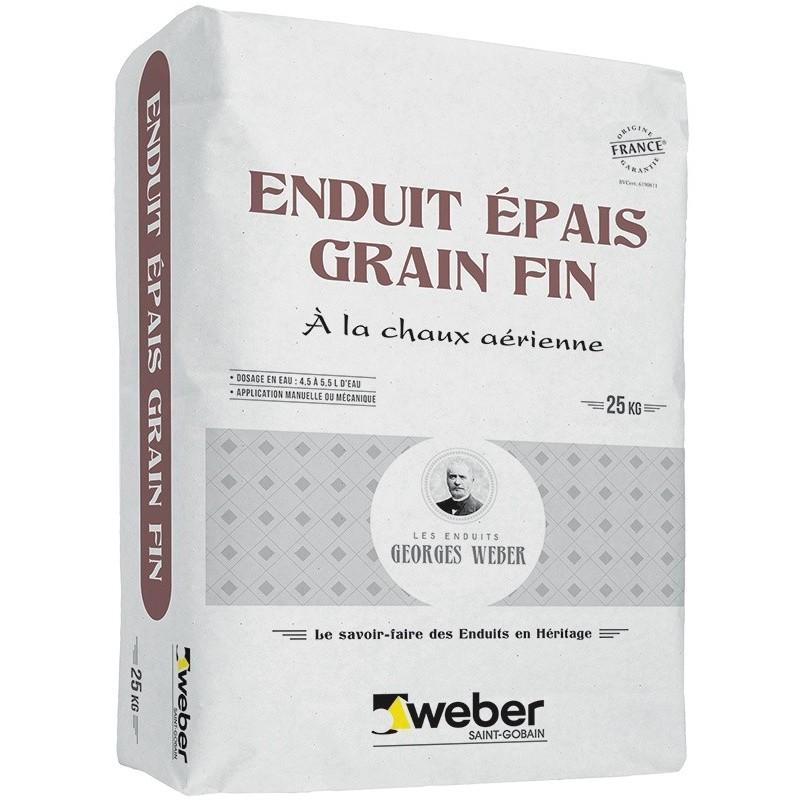 WEBER ENDUIT ÉPAIS GRAIN FIN 25KG